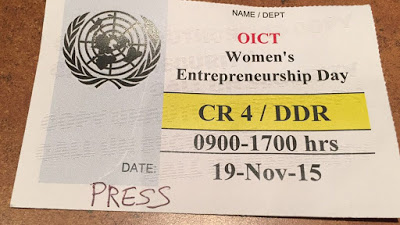 Women's Entrepreneurship Day at the United Nations in NYC #WomenWOW