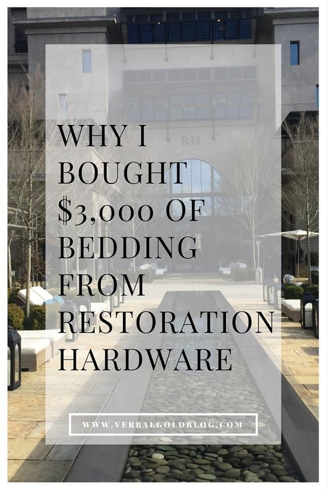 Bedding From Restoration Hardware