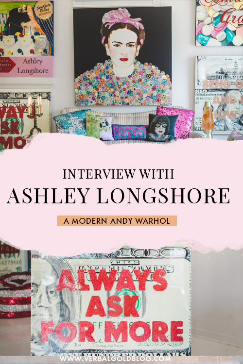 Exclusive interview with New Orleans artist Ashley Longshore - a kickass female artist you need to know about! #Art