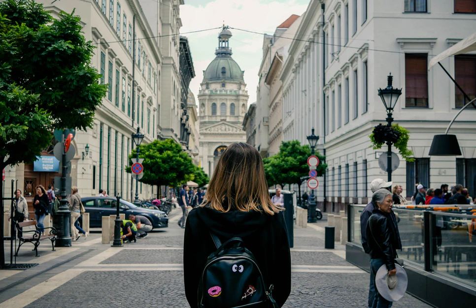 Walking the streets of Budapest