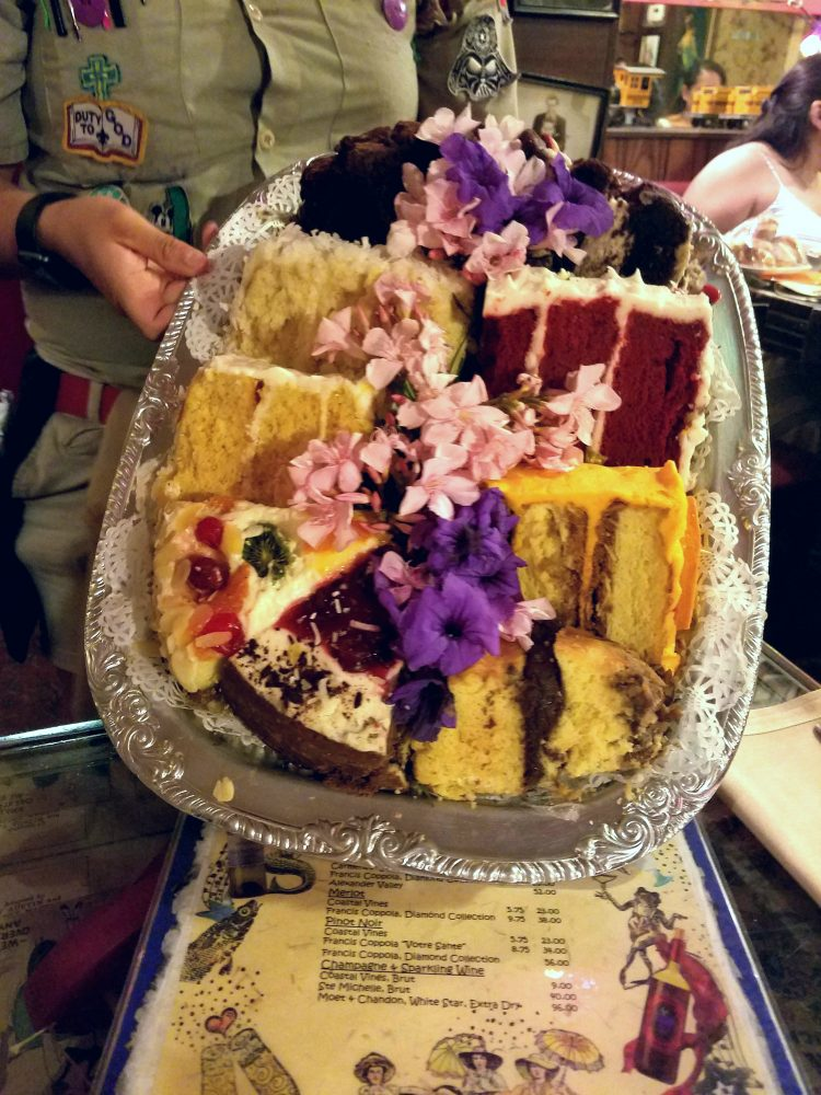 The Bubble Room Restaurant on Captiva Island, Florida, offers diverse cake options, a fun vintage decor, and down-home cooking.