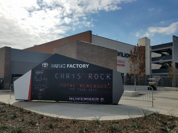 The Toyota Music Factory hosts concerts by famous musicians, bands, comedians, and speakers at the new 17-acre venue.