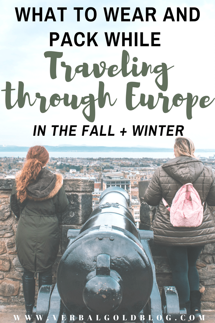 traveling Europe pack and what to wear