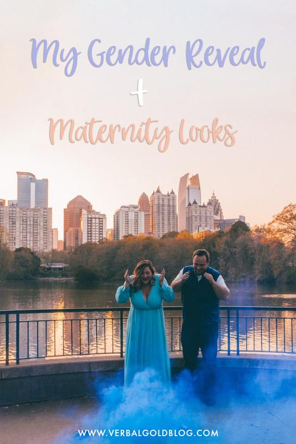 gender reveal maternity looks