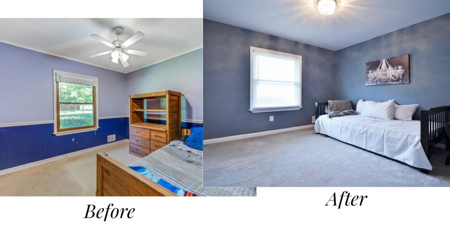 Before and after of our renovated house in Atlanta