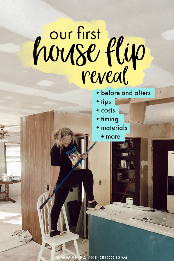 Thinking of trying your hand at a house flip? We recently renovated an entire home and in this post, we reveal all the before and afters as well as tips, costs, materials used, and an extensive Q&A where we answer all the questions we got while working on our first house flip!