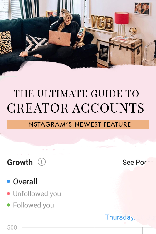 Everything you need to know about Instagram's newest feature for influencers, bloggers, and content creators, including all new features and tools, how to use them, and all the info bloggers need to make the most out of their new Instagram Creator Accounts! #Instagram #Blogging