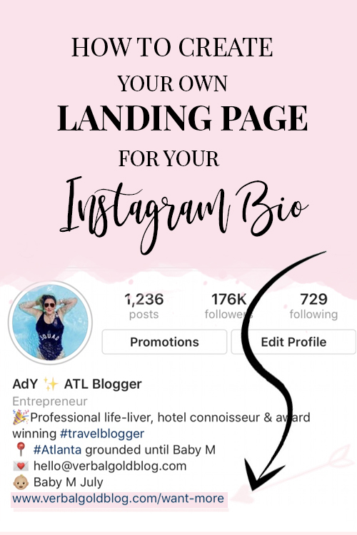 A step by step tutorial on how to create your blog's own landing page for your Instagram bio without Link Tree!
