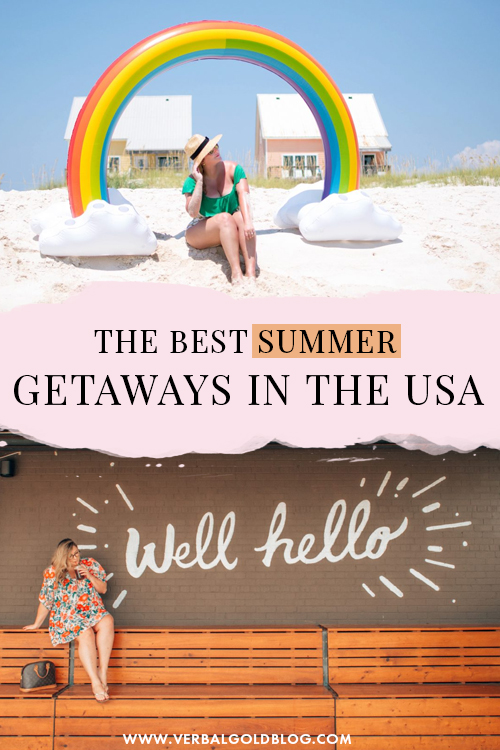With so many incredible national parks, cities, and beach towns in the USA, deciding where to go on summer is a touch choice! We've traveled the USA extensively and on this post, we share our absolute favorite summer getaways in the USA that need to be on your radar! #USA
