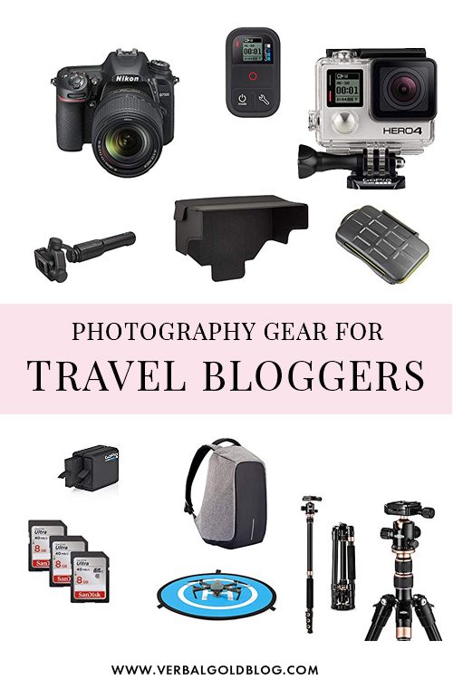 Want to get paid to travel the world? Becoming a travel blogger is one of the ways to do that! Here's the ultimate list of photography gear for travel bloggers - both newbies and veterans! #Photography #Travel #Blogging