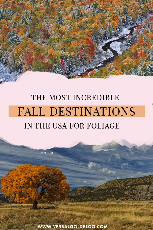 Best Fall Destinations in the USA