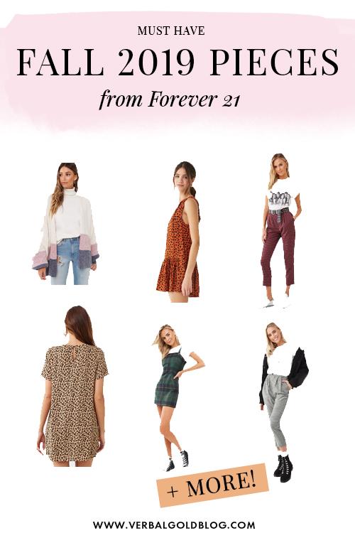 Fav Fall Staple Items From Forever 21