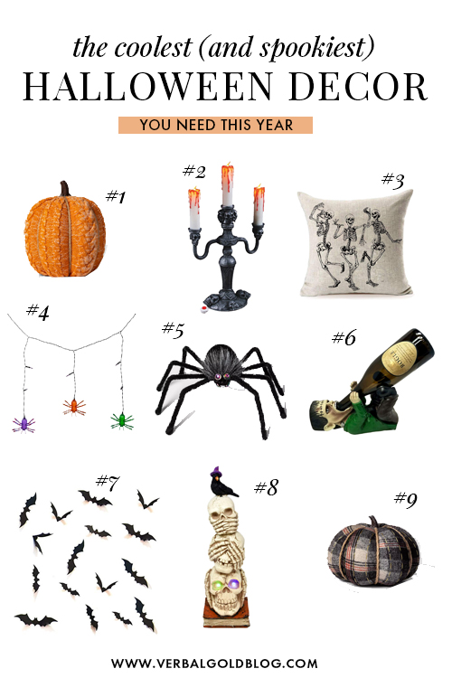 The best Halloween decorations your need in your house this year! From spooky pillows to creepy Frankenstein wine holders, here are some of the coolest (and spookiest) Halloween decoration for 2019! #Halloween #October #Halloween2019