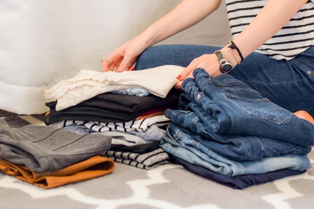 Marie Kondo closet cleaning