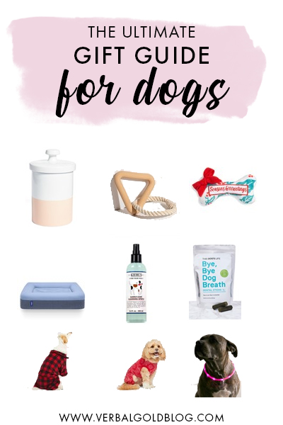 Dogs are part of the fam, so we've put together the ultimate gift guide for dogs with some amazing ideas for gifts for your dog! #GiftGuide