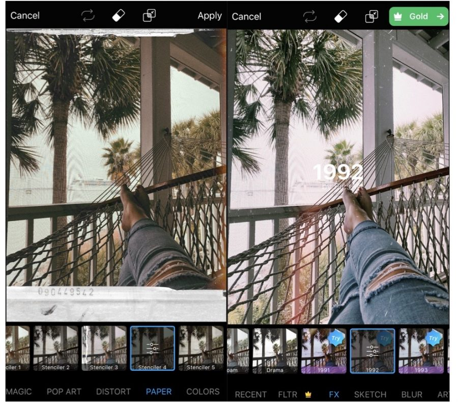 Mexart is one of the best apps to add a vintage filter to your pictures on instagram