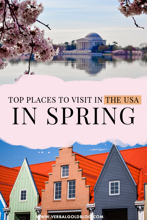 Wondering where to go for a getaway in the USA this Spring? If you're dreaming of your next spring vacation, here are the top destinations in the USA to visit this Spring! #USA