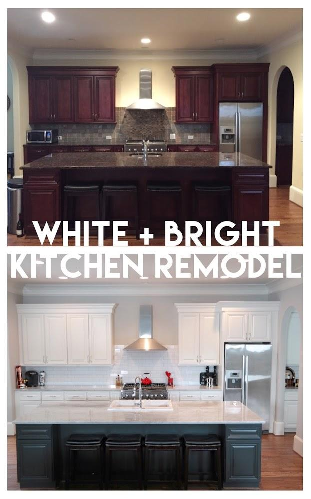 Light And Bright Kitchen Remodel With Marble And White Cabinets Verbal Gold Blog