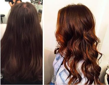 balayage before and after hair