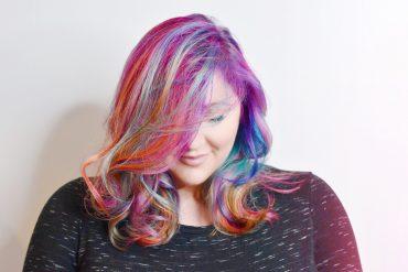 unicorn hair rainbow hair