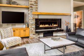 Fireplaces burning ethanol