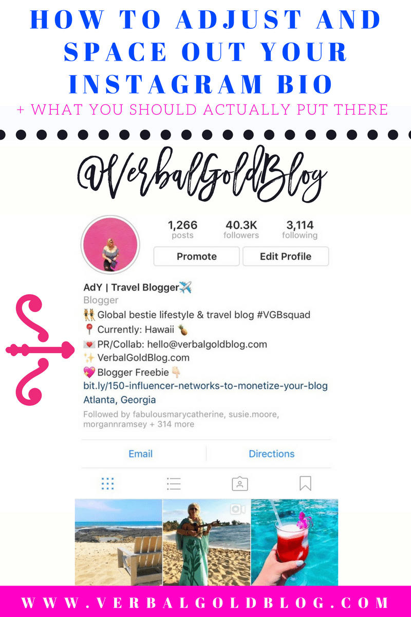How to adjust and space out your instagram bio what you should read next how to add line breaks in your instagram caption without adding dashes or dots ccuart Gallery