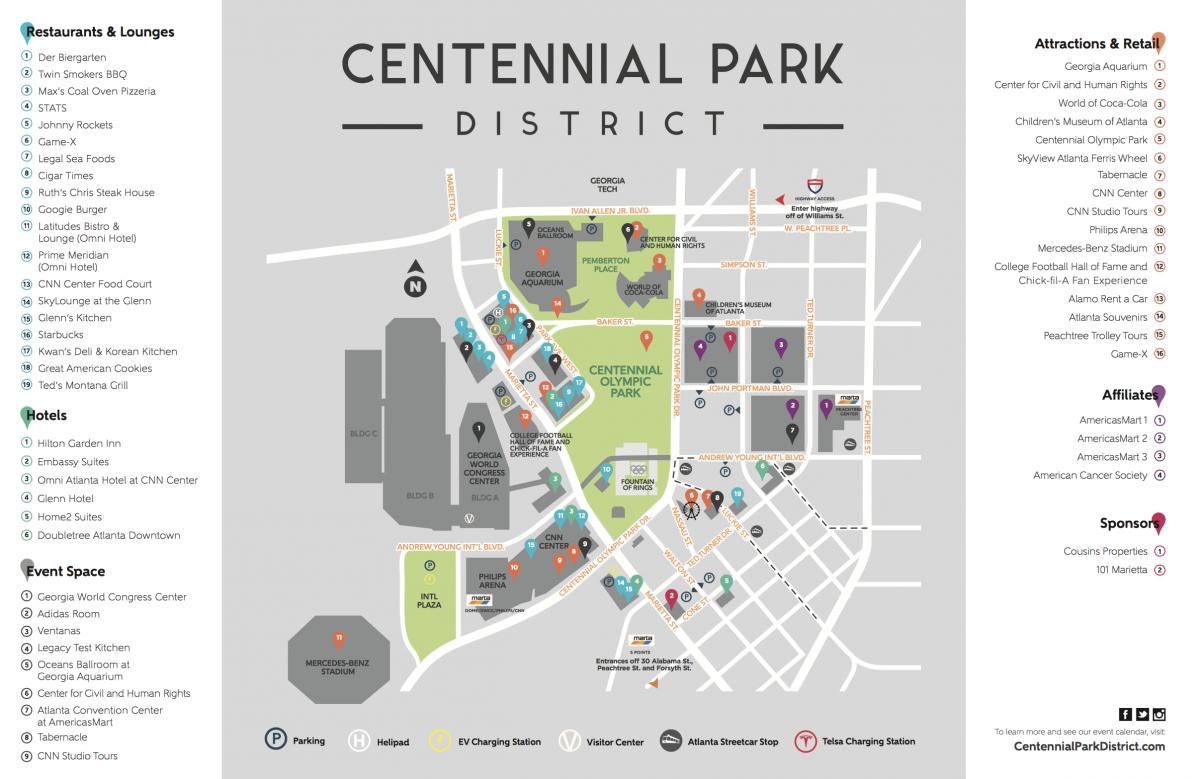 Americasmart Atlanta Map.Exploring Downtown Atlanta Top 10 Things To Do In The Centennial