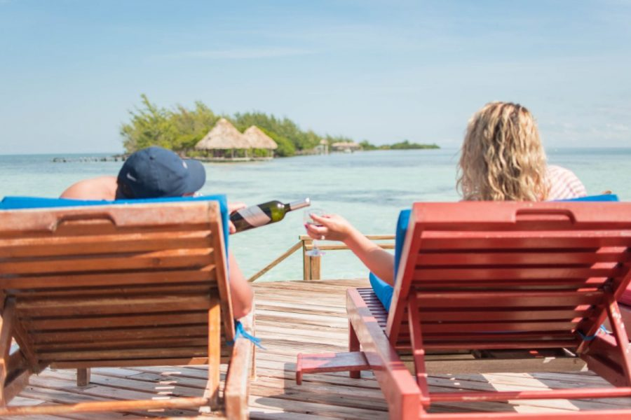 Travel blogger Belize coco plum island resort private island couples vacation Central America