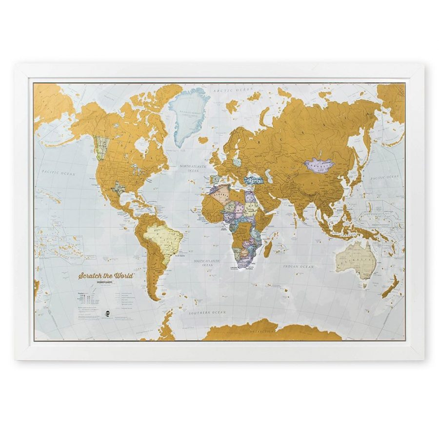 travel map gold scratch off