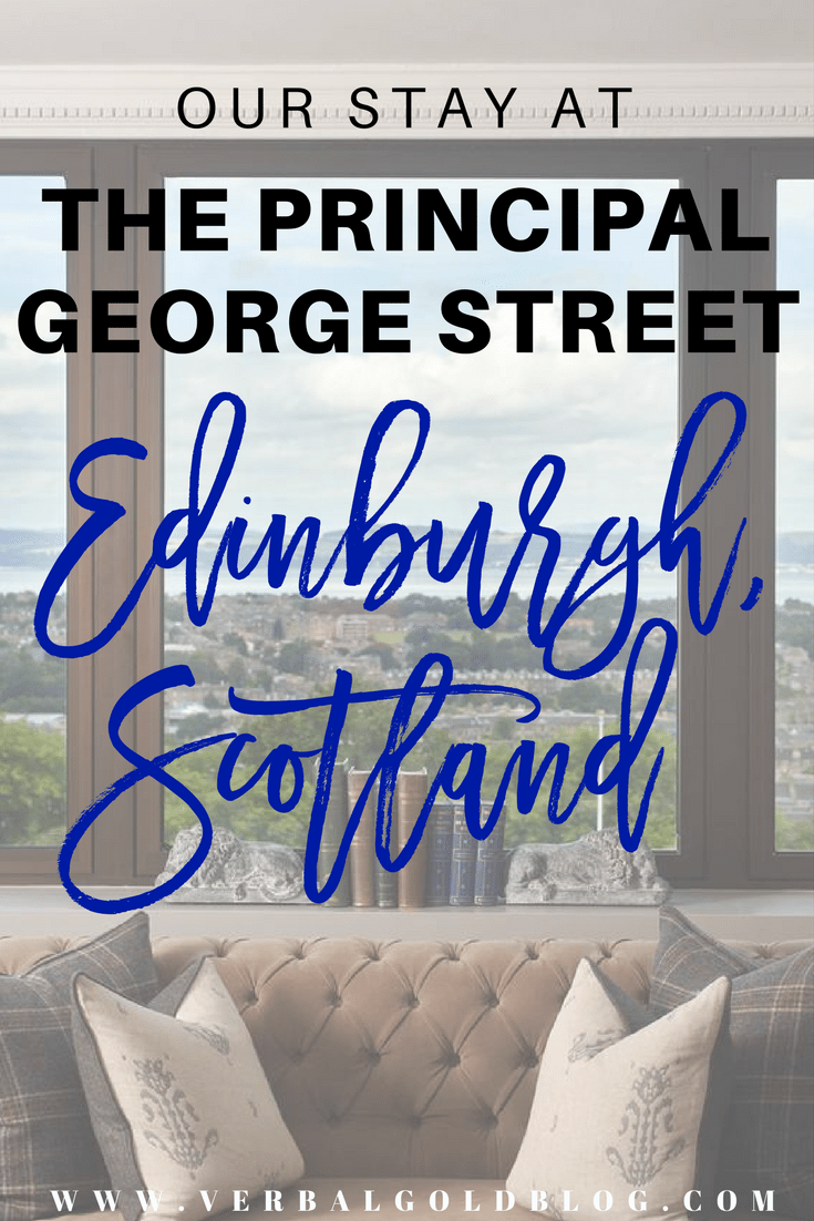 the principal George street Edinburgh Scotland hotel review travel blogger