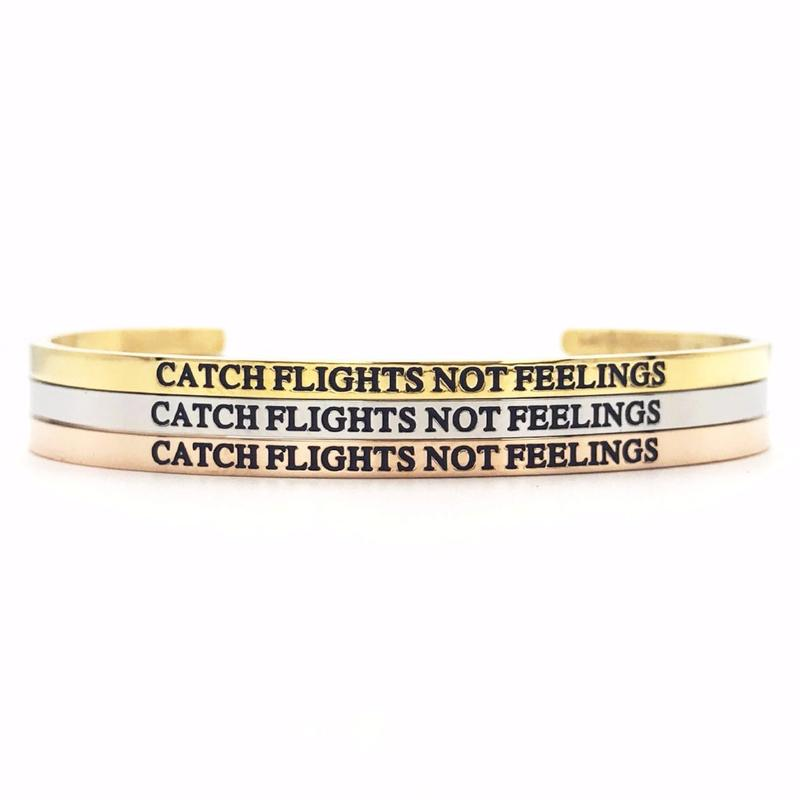 catch flights not feelings metal marvels gifts for travelers