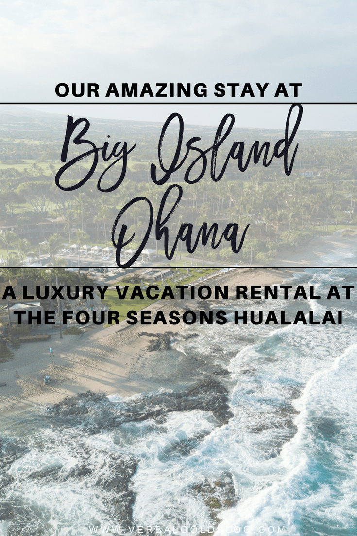 a luxury vacation rental at the Four Seasons Hualalai