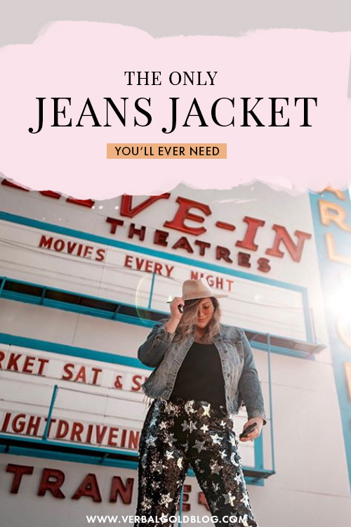 Looking for the perfect jean jacket? Denim Jackets are a key piece in any wardrobe and on this post, I share everything about my favorite custom jean jacket! #Fashion #Denim