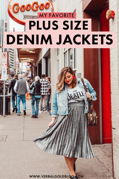 Looking for the best plus size denim jackets? On this post, I share a few of my favorite plus size jean jackets that are perfect for that spring and summer outfits! #Fashion #PlusSize
