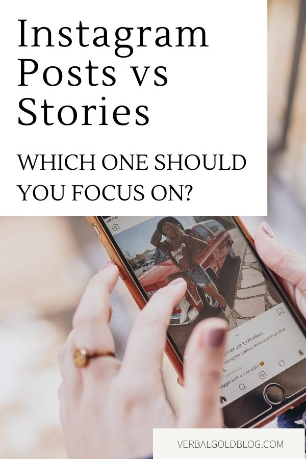Instagram is a really powerful marketing tool for brands, influencers, and bloggers, but becoming successful on Instagram can be a lot of hard work! If you're wondering whether to focus on Instagram Posts vs Instagram stories, here are a few tips for you! #Instagram #Blogging