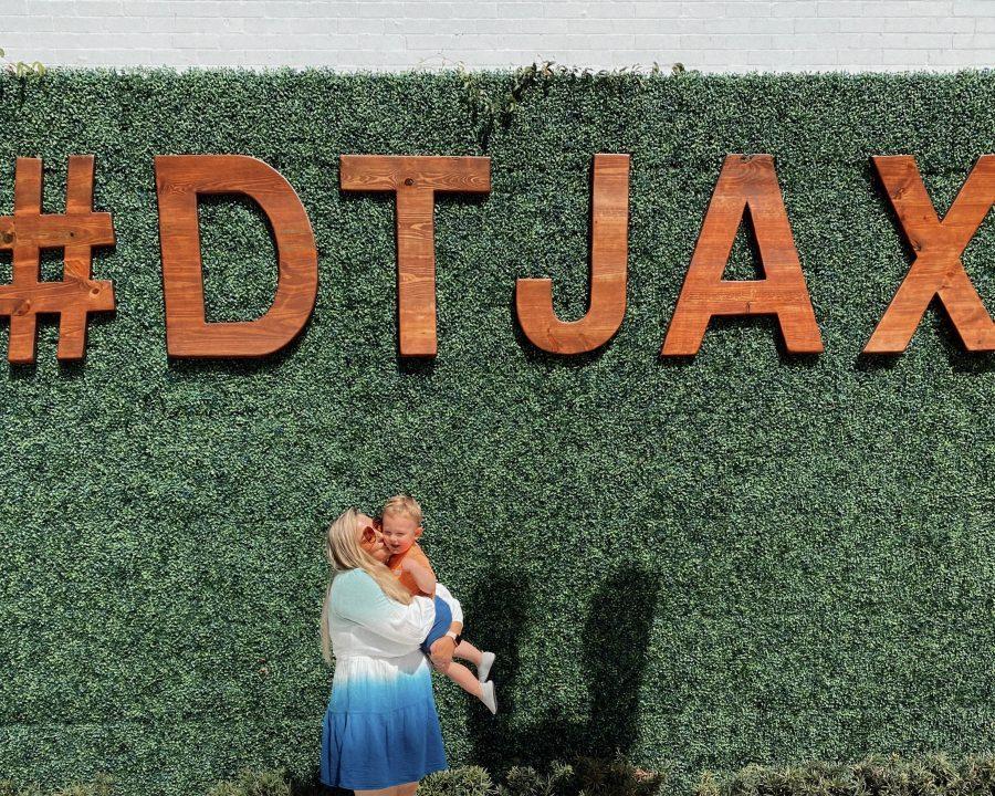 Mom and son at JAX airport