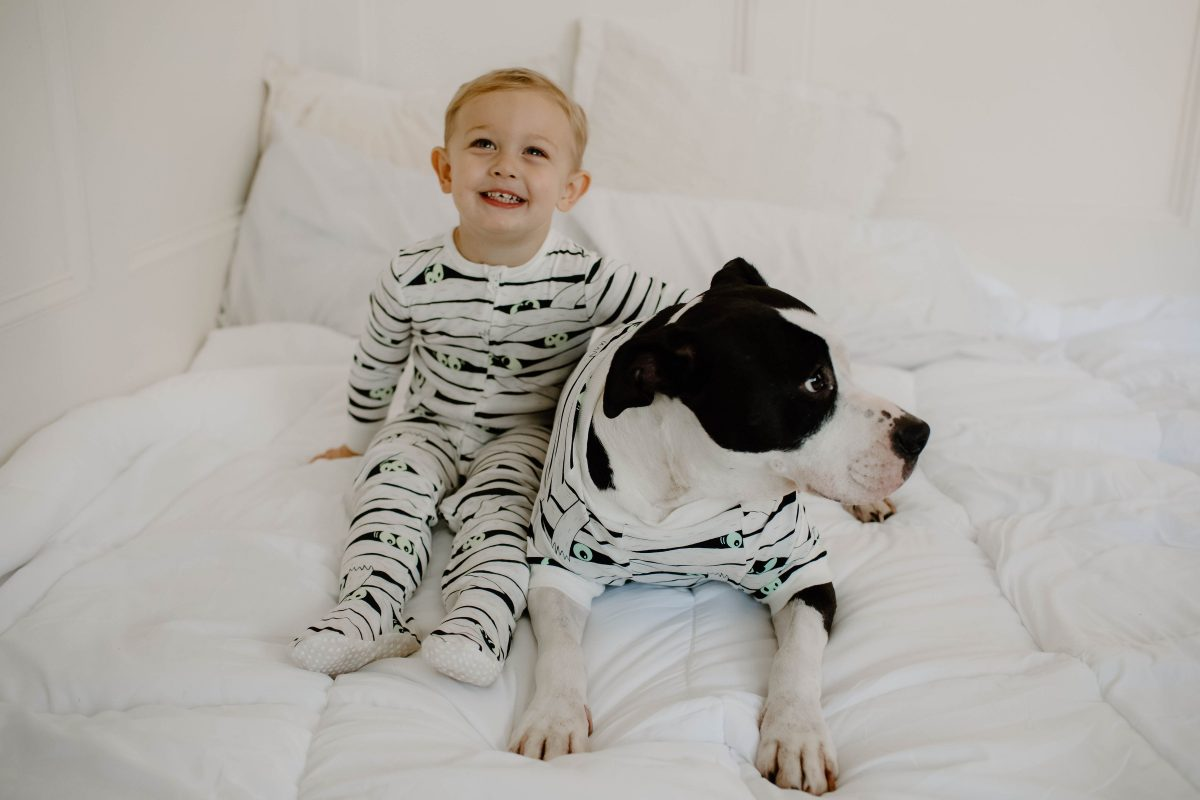 family halloween pajama set for mom dad baby boy and the dogs